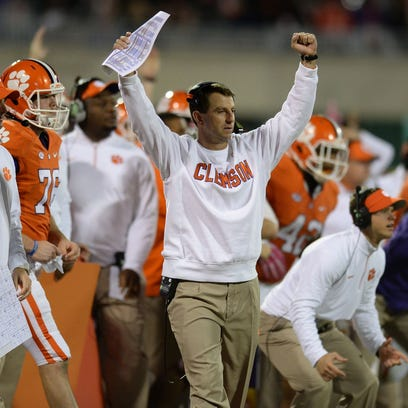 Clemson Coach Dabo Swinney hopes to improve to 3-5