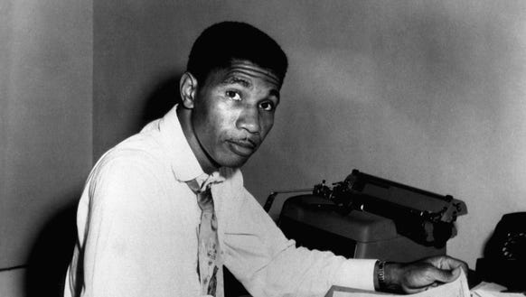 Medgar Evers, state secretary for the NAACP is seen,
