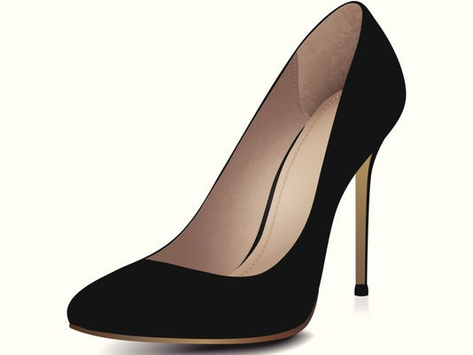 High heels black shoe