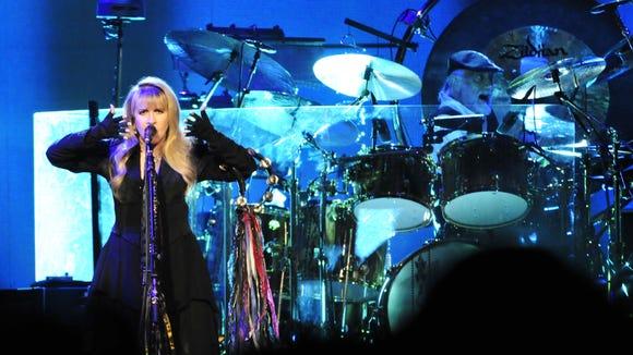 Stevie Nicks and Mick Fleetwood of Fleetwood Mac perform