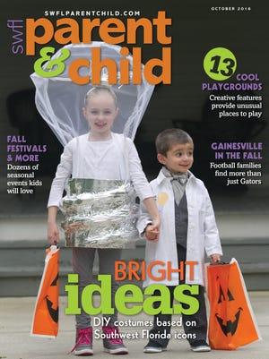 Sabrina Kosmala, 8, and Lincoln Kosmala, 3, wear costumes inspired by Thomas Edison at the Edison & Ford Winter Estates in Fort Myers.