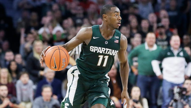 """Lourawls """"Tum Tum"""" Nairn has been instrumental in bringing recruits up to speed about the Michigan State way of playing basketball, coach Tom Izzo says."""