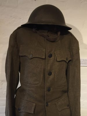 This uniform is part of a World War I exhibit running at the Sherman House and Georgian museums.
