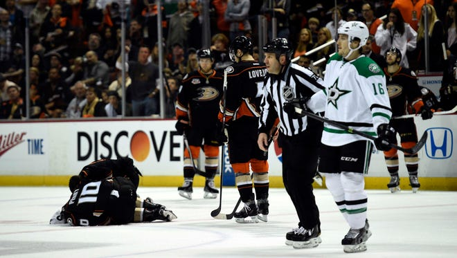 Dallas Stars left wing Ryan Garbutt was ejected on Friday for spearing Corey Perry.