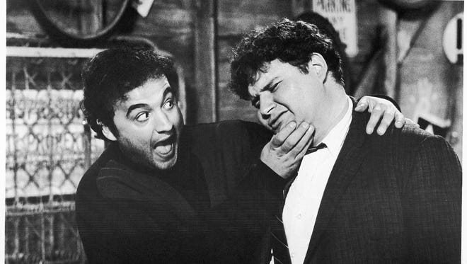 John Belushi and Stephen Furst in a scene from the 1978 film 'National Lampoon's Animal House.'