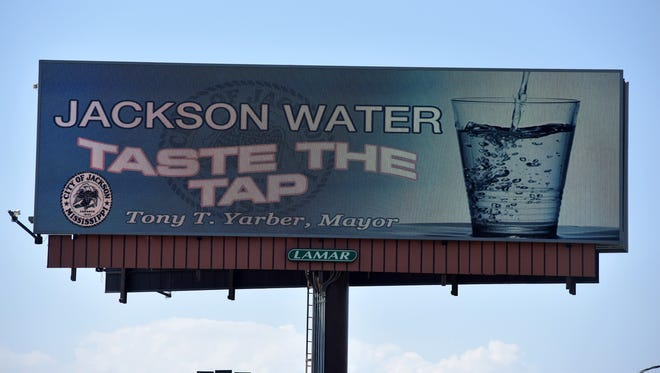 This is a file photo a billboard promoting Jackson's water.