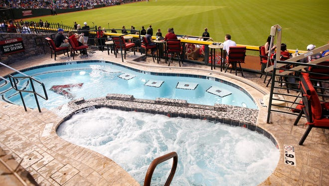 The pool at Chase Field during a game between the Arizona Diamondbacks and Chicago Cubs in Phoenix, Ariz. August 13, 2017.