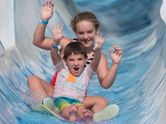 Wyatt Ferguson, 5, and his sister Hayley Ferguson,