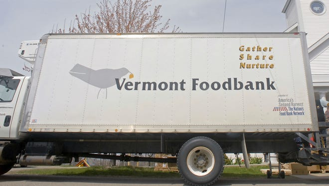 The Vermont Foodbank truck seen in Colchester.