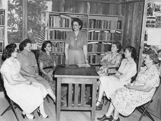 A gathering of the Peoria Women's Club in 1951. The