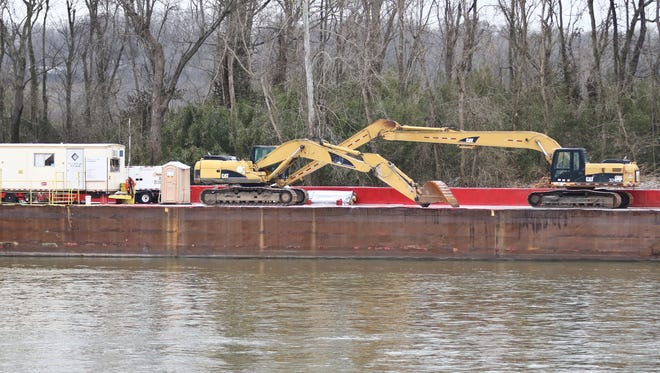 The city of Clarksville and U.S. Army Corps of Engineers are working together to help stablize the eroding riverbank along the Cumberland River. The works is estimated to be completed either late March or early April.