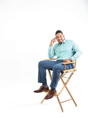 Dre Brownridge poses for photos in the Woodland Park studio on Wednesday, April 12, 2017. Brownridge is one of the men featured in the men style story in (201) Magazine, July 2017 issue.