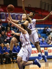 Simon Kenton's Shelby Harmeyer concentrates on the