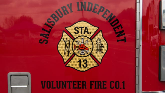 A view of the Salisbury Independent Volunteer Fire Company's emblem at their headquarters on Snow Hill Road on Friday, Aug. 25, 2017.