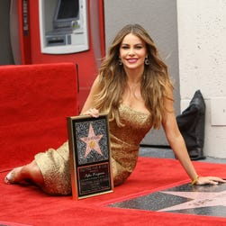 Sofia Vergara at ceremony honoring her with a Star on The Hollywood Walk of Fame May 7.