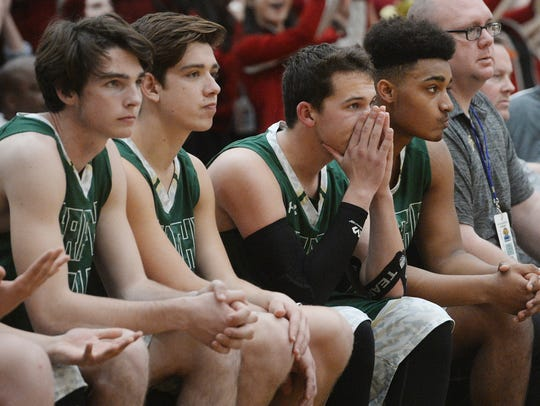 The St. Bonaventure bench watches the final moments