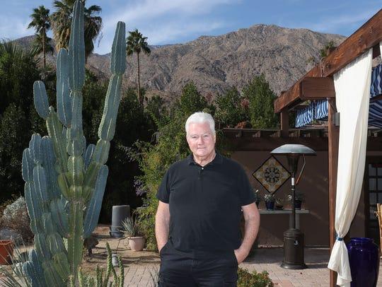 Greg Gilman at his Palm Springs home, December 4, 2017.