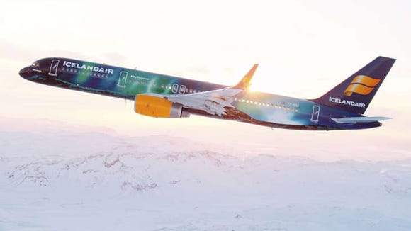 Icelandair's Hekla Aurora has been given a colorful