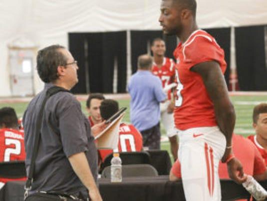 Carlton Agudosi is just a bit taller than me.