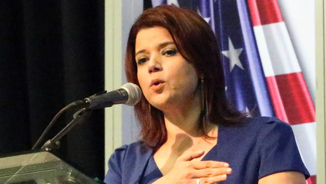 Ana Navarro, a political strategist and CNN commentator, was the guest speaker at the Borderplex Alliance U.S. Mexico Border Summit on Wednesday at the El Paso civic center.
