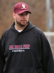 Mike Teel, pictured in 2015 as an assistant coach at Don Bosco.
