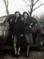 Susan Manzke's Aunt Sophie (left) poses with her sister, Bea, in this old family photograph.