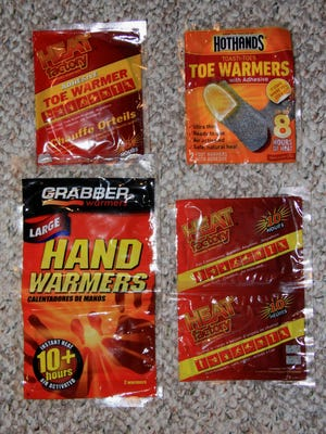 Disposable toe and hand warmers can help make cold days more tolerable.