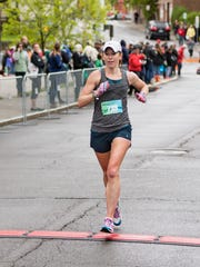 Pine City's Hollie Hughes, 34, was the top female finisher