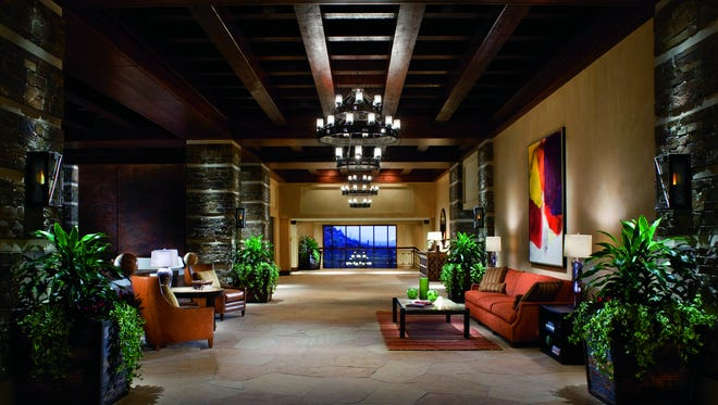 The lobby of The Ritz-Carlton Dove Mountain in Marano, Ariz. The hotel made AAA's Five Diamond list for the first time.