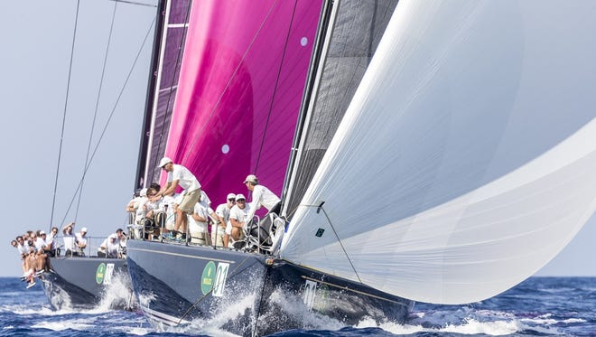 Naples' Hap Fauth steered the Bella Mente to the Rolex Maxi 72 World Championship, his third overall and second consecutive, on Saturday, Sept. 10, 2016.