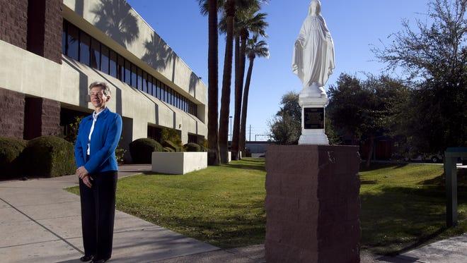 Suzanne Fessler, principal of St. Mary's Catholic High School in Phoenix, on Feb. 11, 2011.