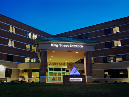 Chambersburg Hospital, as seen from its King Street Entrance.