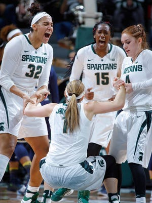 The Michigan State women's basketball team will try to improve to 2-0 in the Big Ten when it faces Purdue tonight.