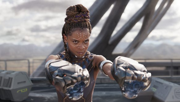 Teenage princess Shuri (Letitia Wright) is the smartest