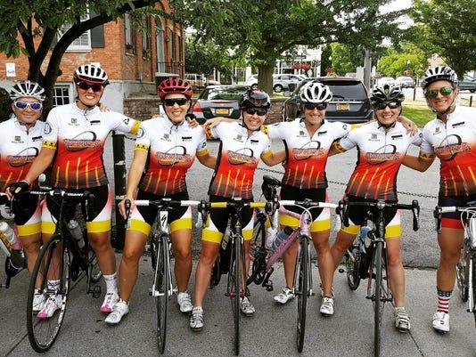 Female cycling team