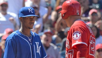 Ventura got into a stare-down with Angels outfielder Mike Trout in 2015.