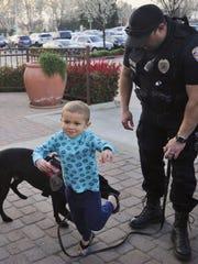 Officer Daniel Roberts showed off his four legged partner, Xero.