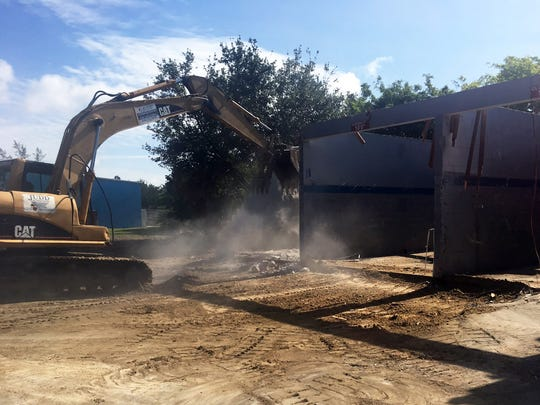 The Luv-A-Wash car wash at Jaeger and Pine Ridge roads recently was demolished to make way for a new Luv-A-Wash in North Naples.