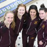 Adams (Red), Bloomfield Hills (White) earn division swim titles