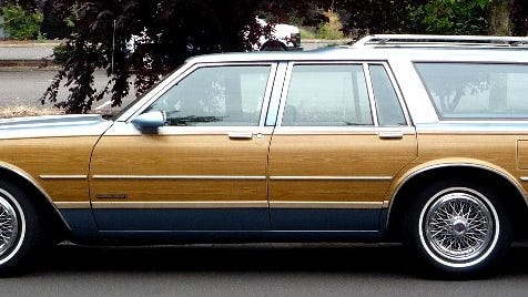 Although all of the B-Body platform General Motors full-size station wagons were similar mechanically and in dimensions, each had its distinct touches. Shown here is a classic example of a beautiful 1987 Pontiac Safari, a model identical to reader Georgia Algiere who owned one.