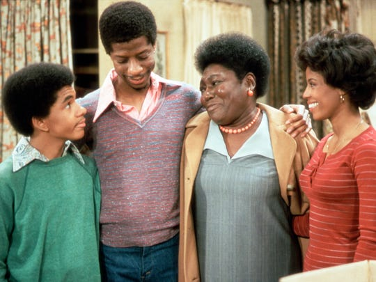 Ralph Carter, left, Jimmie Walker, Esther Rolle and