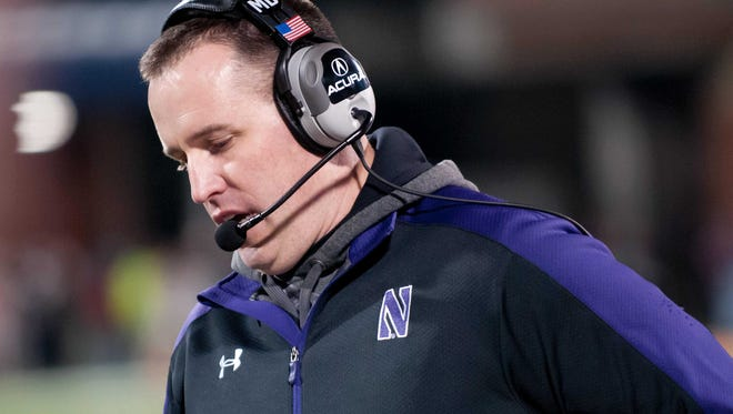 A newspaper quote about the demands of college athletics was used against Northwestern football coach Pat Fitzgerald in a labor hearing Friday in Chicago.