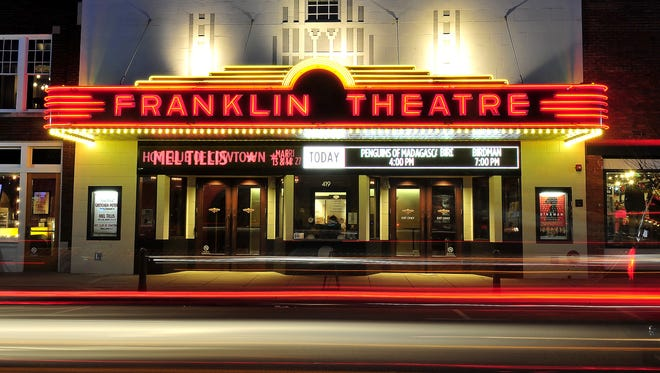 A shot of the historic Franklin Theatre on Franklin's Downtown Main Street.