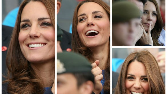 Duchess Kate in stands