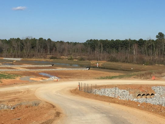 Pending state approval, a holding pond for stormwater