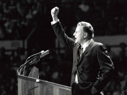 Billy Graham in New York June 1969.