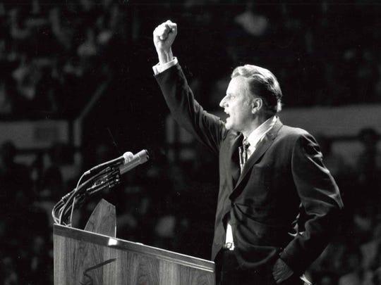 Billy Graham in New York June 1969.