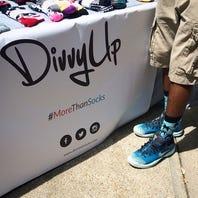 Entrepreneurs DivvyUp socks for locals
