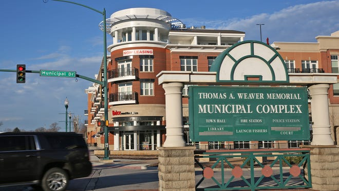 The Thomas A. Weaver Memorial Municipal Complex and The Depot at Nickel Plate on 116th St. add to the downtown in Fishers, Wednesday, December 16, 2015.