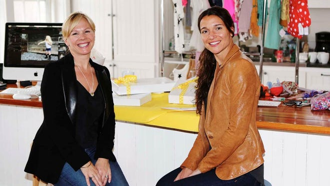 Minou Kids owners Marie-Michelle Gaudreau of Charlotte (left) and Julie Harvey of Manchester.